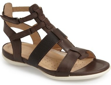 5a7692ef03a771 ... Brown Leather Gladiator Sandals Ecco Flash Gladiator Flat Sandal ...
