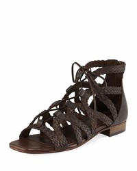 Gidget woven flat gladiator sandal brown medium 3745709