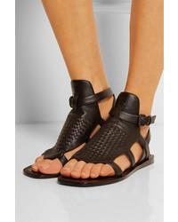 968e714a58bc ... Bottega Veneta Intrecciato Leather Sandals ...