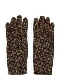 Burberry Brown Monogram Classic Gloves