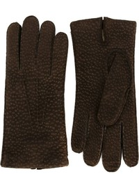 Canali Peccary Leather Gloves