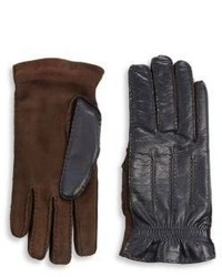 Brunello Cucinelli Cashmere And Leather Gloves