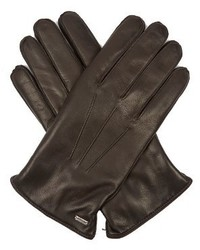 Dolce & Gabbana Cashmere Lined Leather Gloves