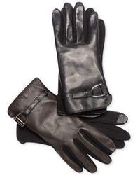 Lauren Ralph Lauren D Ring Hybrid Tech Touch Leather Gloves