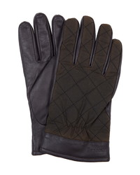 Barbour Dalegarth Leather Waxed Cotton Gloves