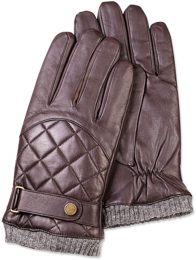 Polo Ralph Lauren Gloves Quilted Leather Wool Lined | Where to buy ... : leather quilted gloves - Adamdwight.com