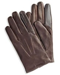 Hugo Boss Habid Tt Perforated Leather Touch Tech Gloves