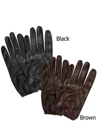 Isotoner Leather Unlined Driving Gloves