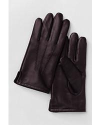 Lands' End Landsend Cashmere Lined Leather Gloves Intense Bluexl