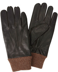 Haggar Leather And Knit Gloves