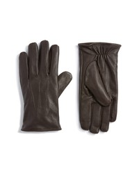 Topman Leather Touchscreen Gloves