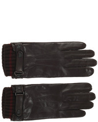 Ted Baker London Oktopus Leather Gloves Chocolate