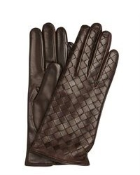 All Gloves Vino Red Woven Leather Glove With Cashmere Lining