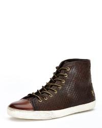 Frye Chambers Leather High Top Sneaker Dark Brown