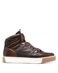 Santoni High Top Lace Up Trainers