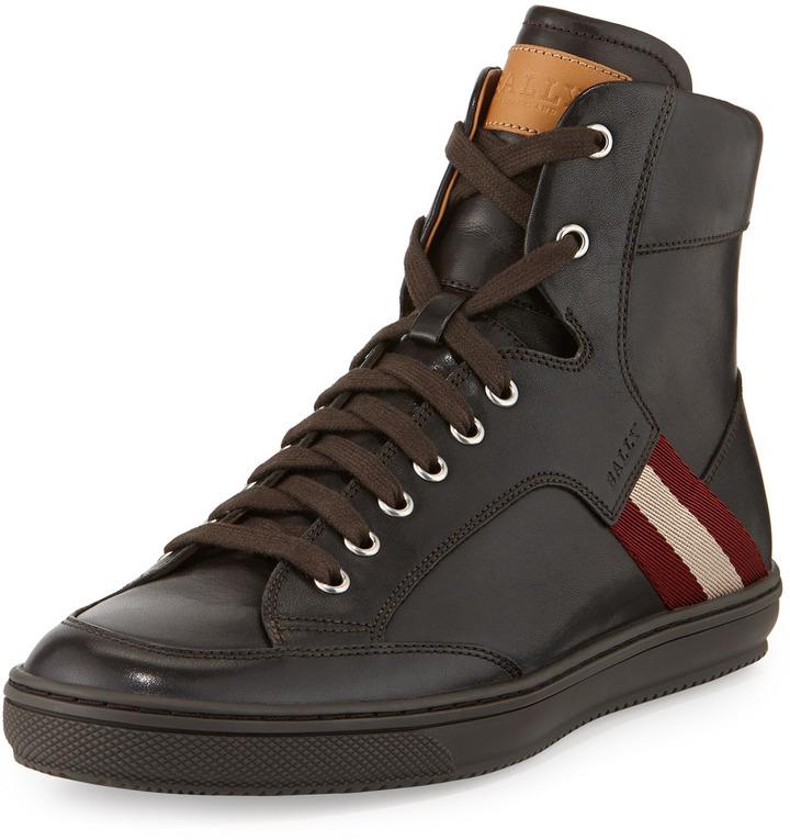 Bally Oldani Leather High Top Sneaker