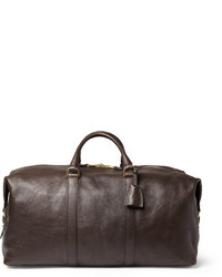 Dark Brown Leather Holdall