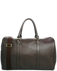 Asos Brand Smart Carryall In Brown Faux Leather