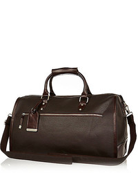 River Island Brown Pebbled Holdall