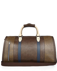 River Island Dark Brown Block Panel Holdall Bag