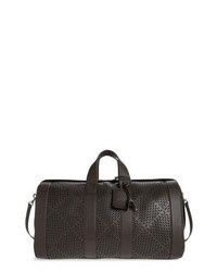 Bottega Veneta Perforated Leather Duffle Bag