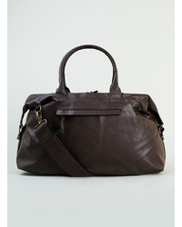 Topman Brown Faux Leather Holdall