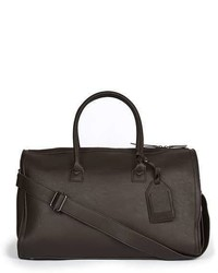 Topman Brown Leather Look Holdall