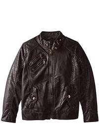 Urban Republic Big Boys Faux Leather Moto Jacket With Zips