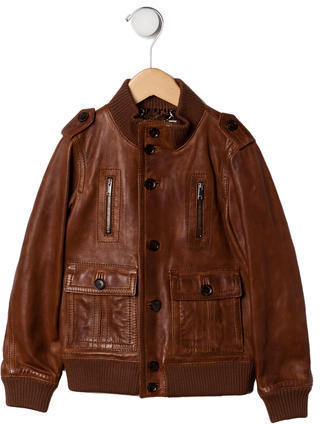 Gucci Boys Leather Bomber Jacket | Where to buy & how to wear