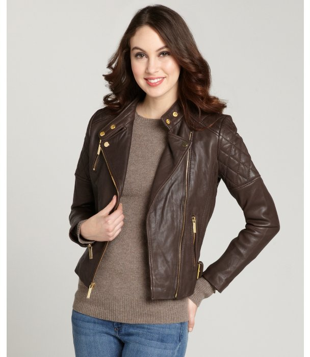 Leather Moto Jacket For Women - Jacket