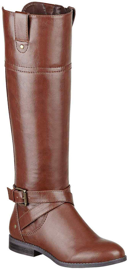 a11a905bc0b ... Liz Claiborne Amberly Knee High Wide Calf Riding Boots