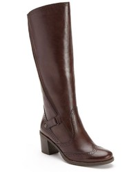 Bussola Style Hazel Wingtip Leather Riding Boots