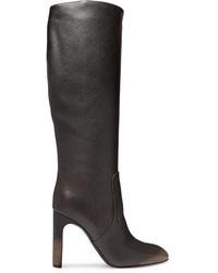 Bottega Veneta Textured Leather Knee Boots