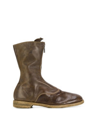Guidi Zipped Panelled Boots