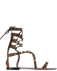 Valentino Rockstud Rolling Gladiator Sandals