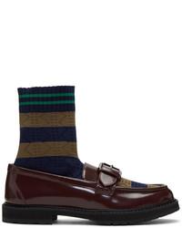 Fendi Brown Scuba Sock Loafers