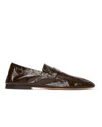 Bottega Veneta Brown Unstructured Loafers