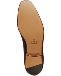 41b5c8f6859 ... Gucci Elanor Leather Horsebit Loafer Brown