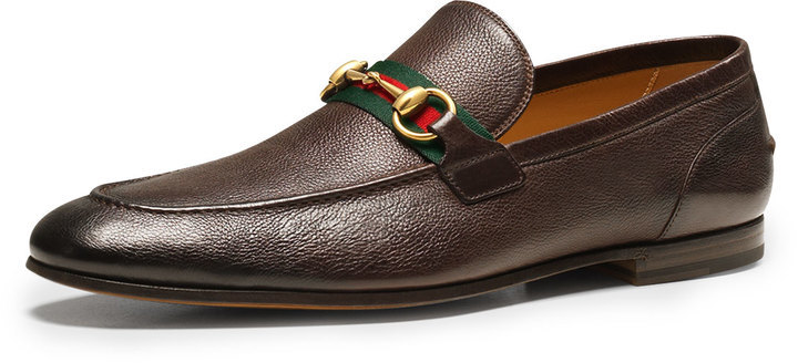 69b139128 Gucci Elanor Leather Horsebit Loafer Brown, $670 | Neiman Marcus ...