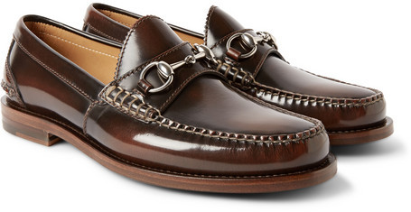 bdf03779e4e ... Gucci Horsebit Leather Loafers ...
