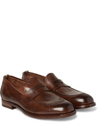 9c5b895ae73 ... Officine Creative Ivy Polished Leather Penny Loafers