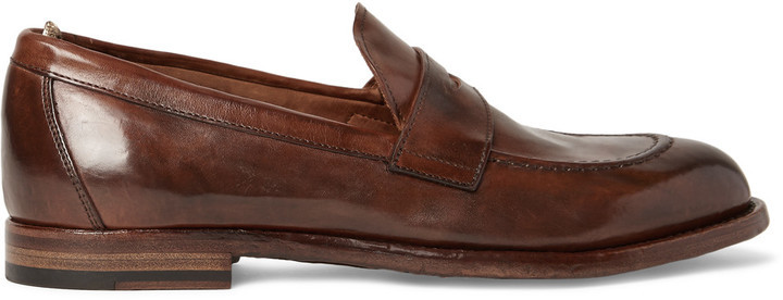 69d98625a34 ... Officine Creative Ivy Polished Leather Penny Loafers ...
