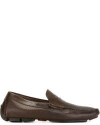 Kiton Perforated Penny Loafers