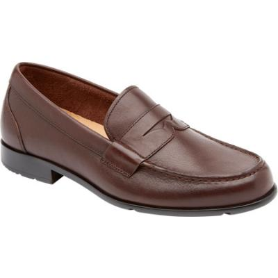 ... Dark Brown Leather Loafers Rockport Classic Penny Loafer Coach Brown  Leather Penny Loafers