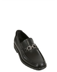Salvatore Ferragamo Master Brushed Leather Loafers