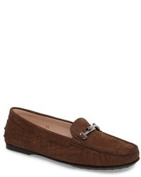Tod's Tods Croc Embossed Double T Loafer