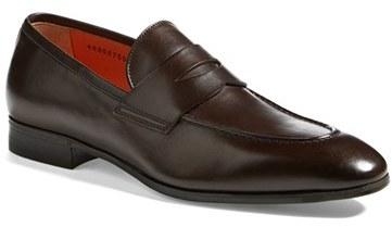 penny loafers - Brown Santoni gsvV9