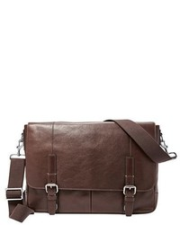 Graham leather messenger bag metallic medium 717878