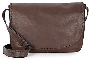 John Varvatos Motto Leather Messenger Bag