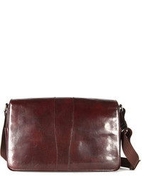 Leather messenger bag brown medium 142782